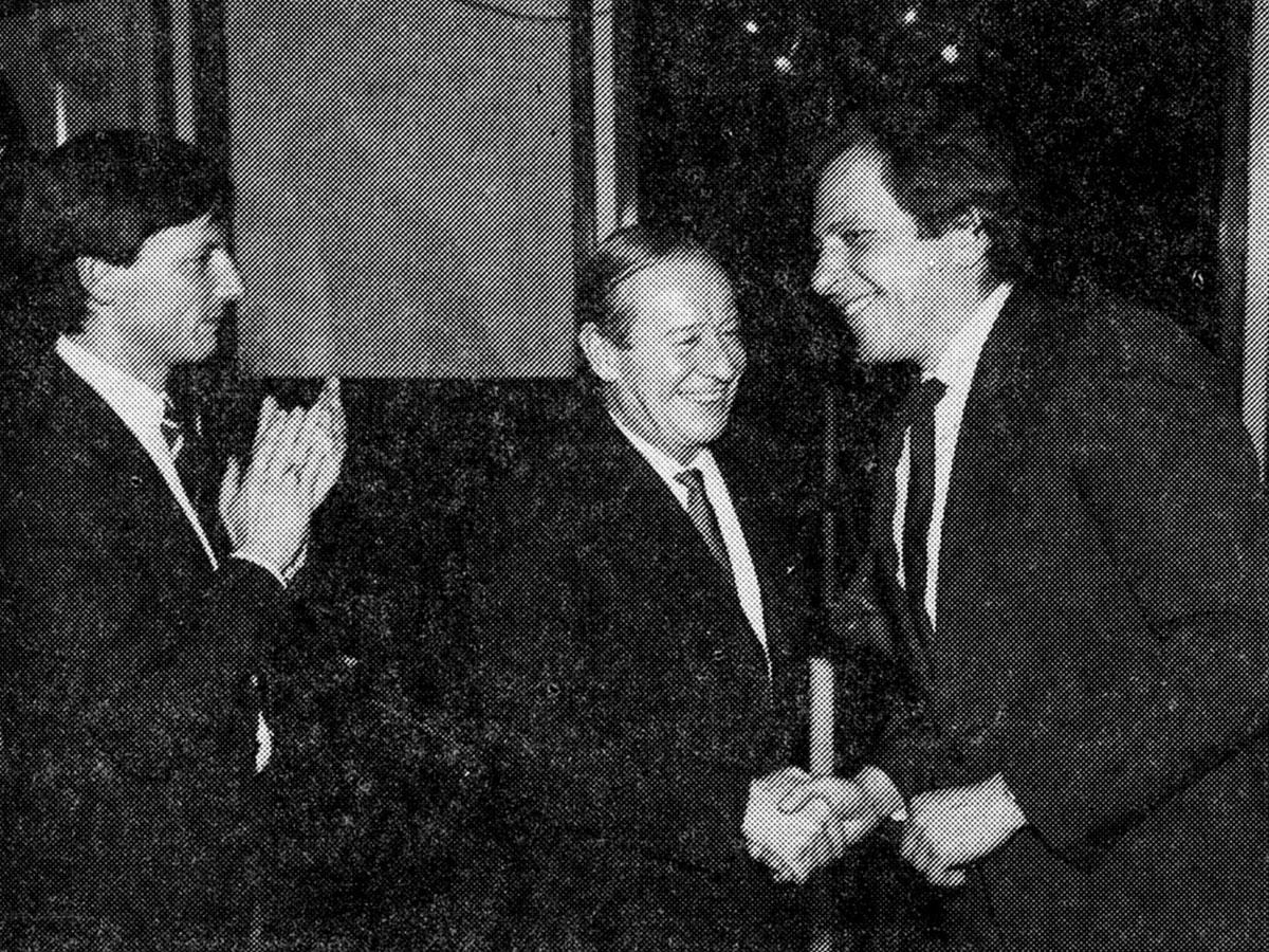 Wilfried Haslauer und Max Dasch